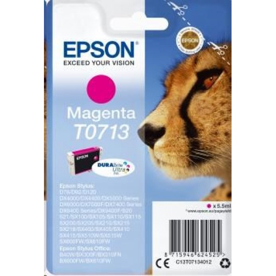 EPSON ink bar Singlepack Magenta T0713 DURABrite Ultra Ink (5,5 ml)
