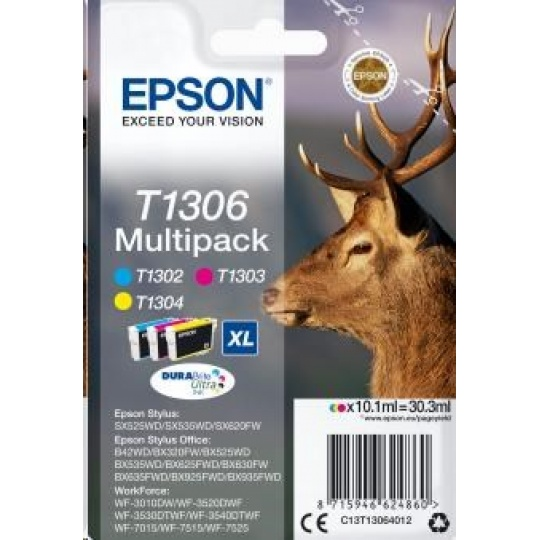 "EPSON ink Multipack 3-colours ""Jelen"" T1306 DURABrite Ultra Ink"
