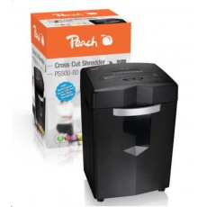 Peach Auto Cross Cut Shredder w. CD, PS500-80 / skartovač